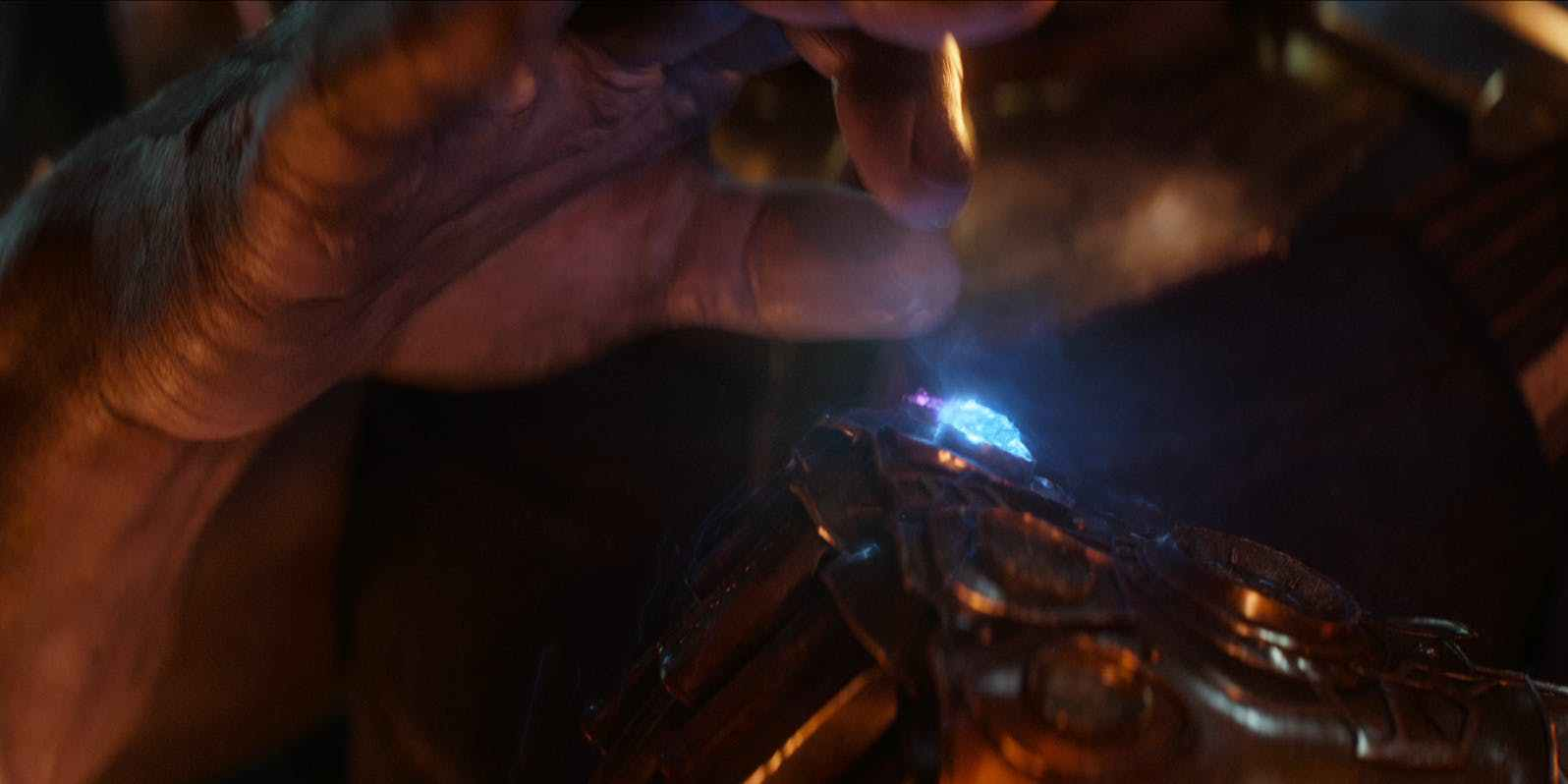 Thanos adds the I nfinity Space Stone