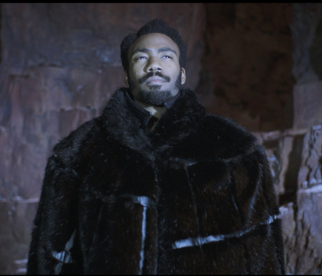 Lando Calrissian played by Donald Glover