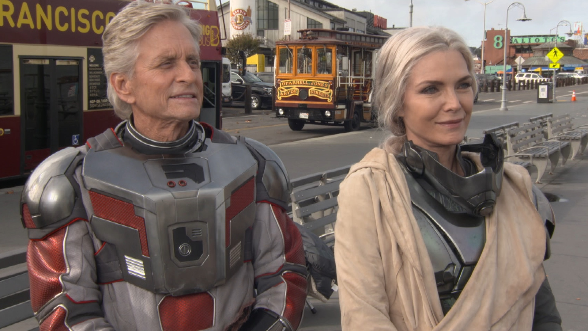 Hank (L) & Janet (R) Pym played by Michael Douglass and Michelle Pfeiffer
