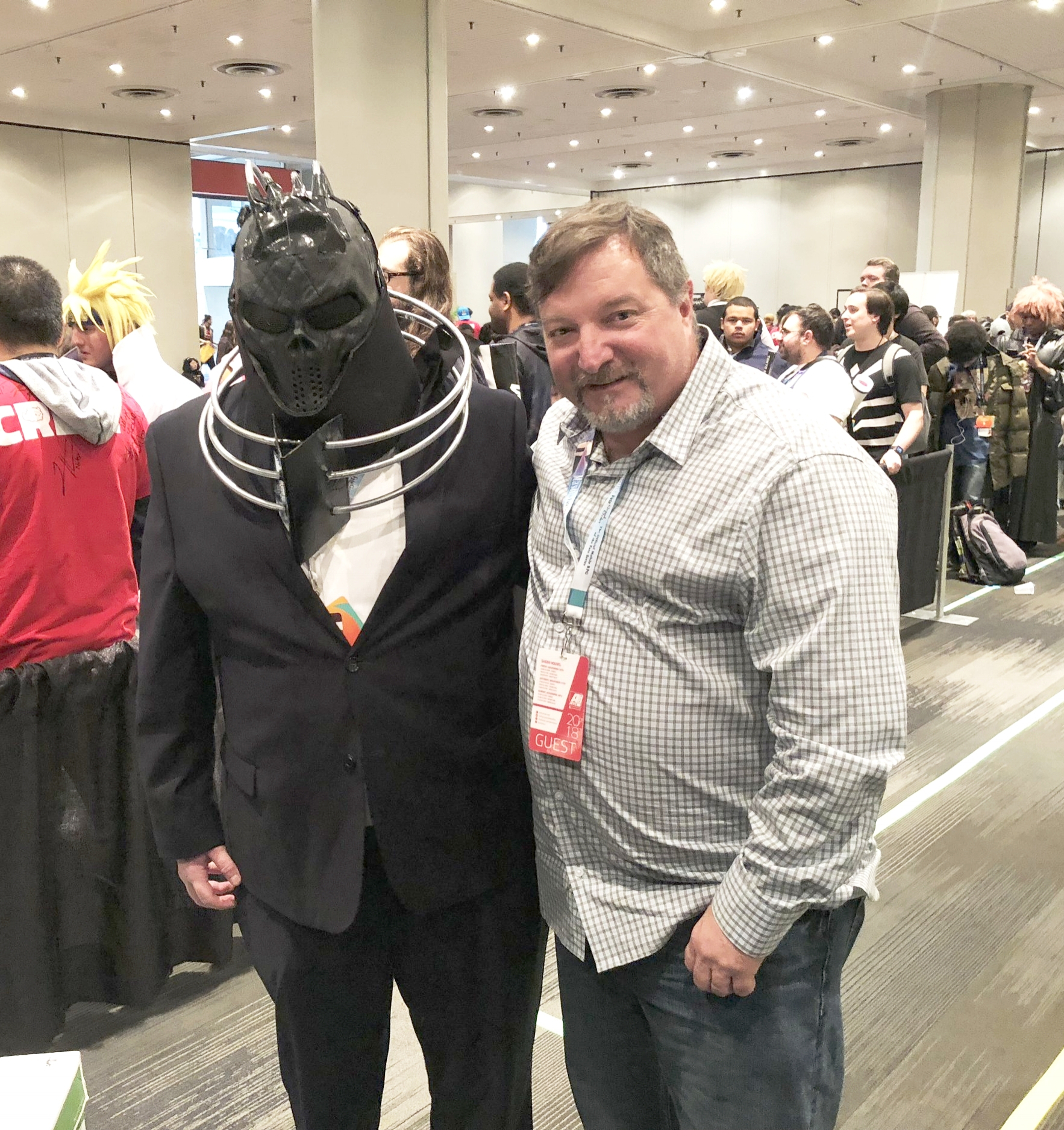 Me with the voice actor of All For One: John Swasey