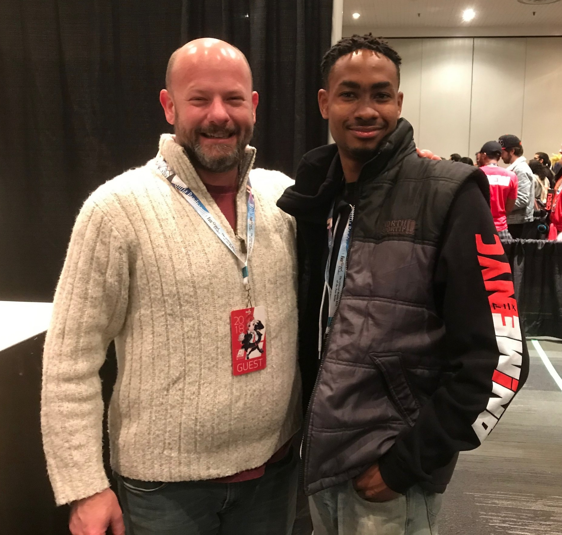 Me with Voice Actor: David Wald