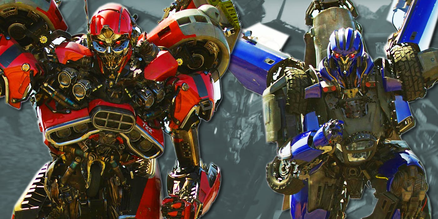 Decpticons: Shatter (Red) and Dropkick (Blue)