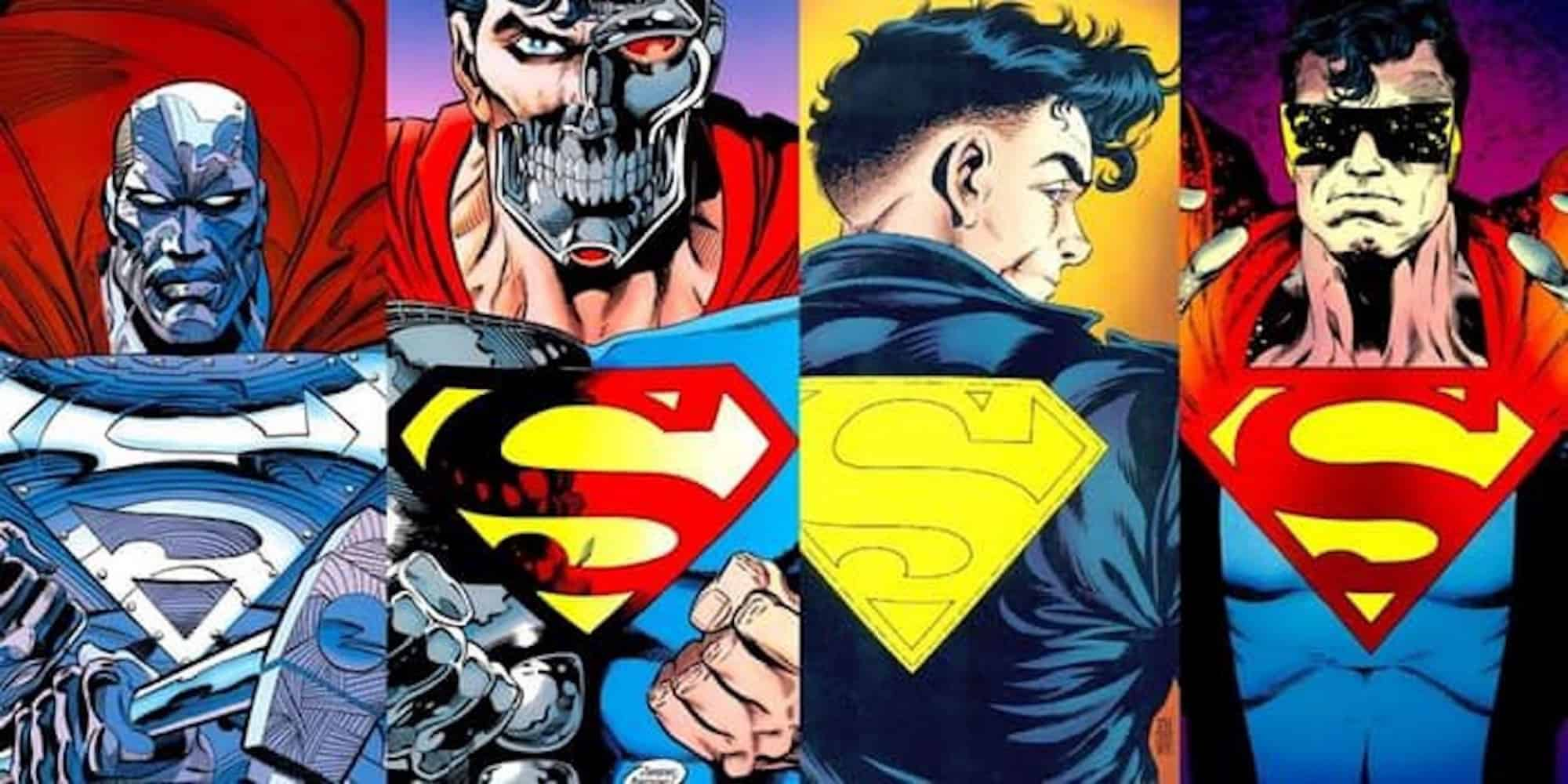 #Supermensquad: L to R - John Henry Irons, Hank Henshaw, Superman (Camdus Clone), Eradicator (Superman's Nanny)
