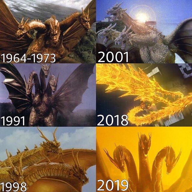 Ghdorah Evolution.jpg