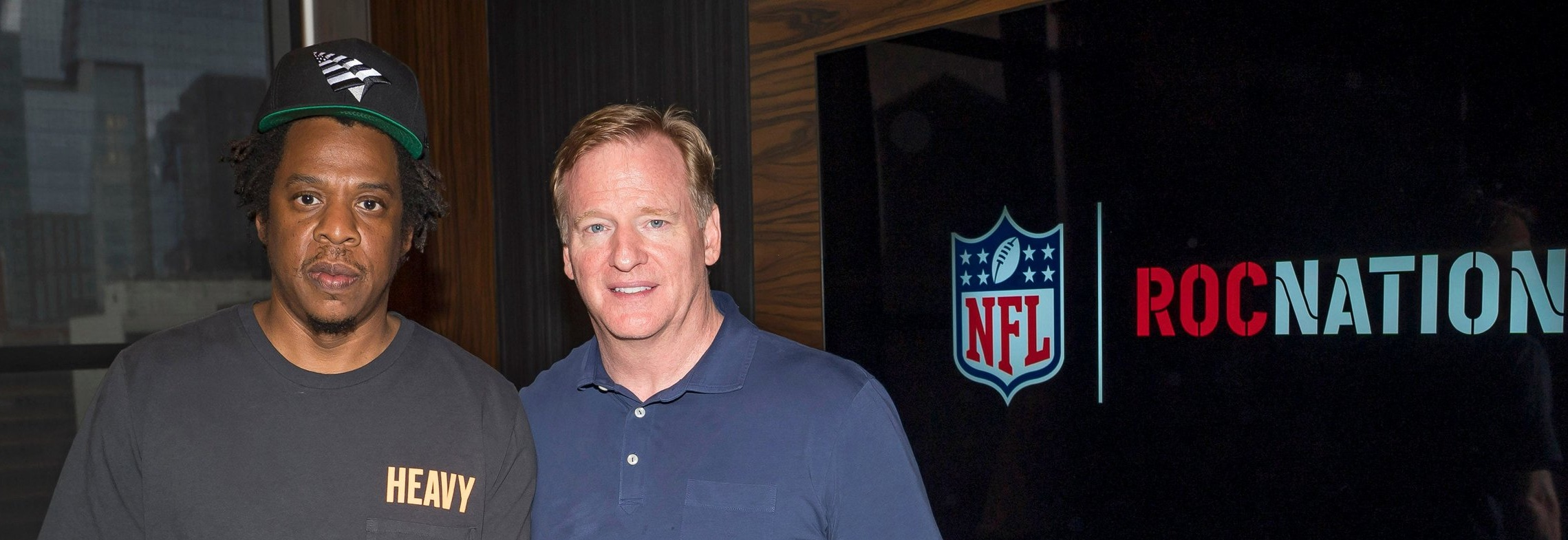 CEO of Roc Nation, Jay-Z and NFL Commissioner, Roger Goodell.