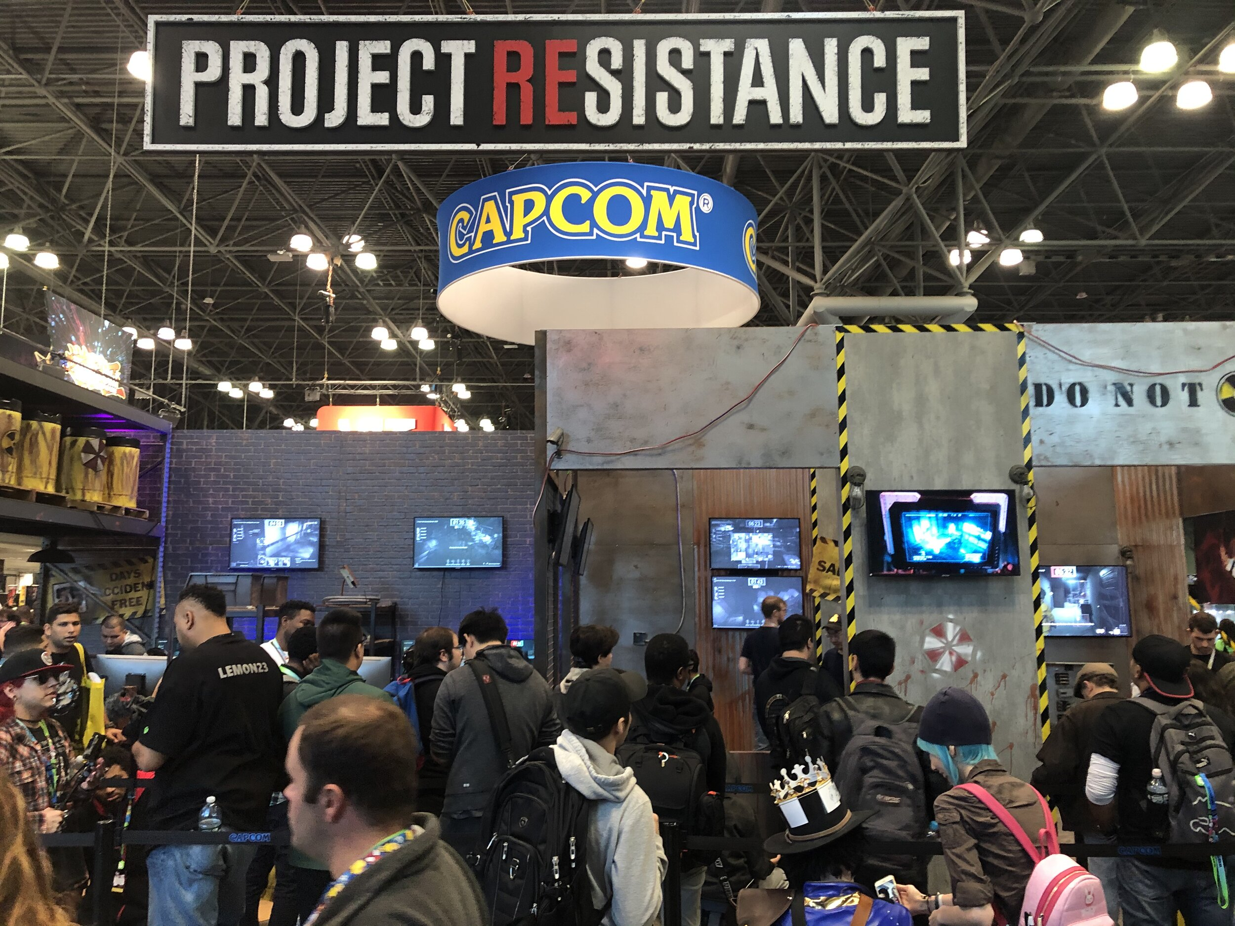 Waiting Line for RE: Project Resistance @NYCC2019