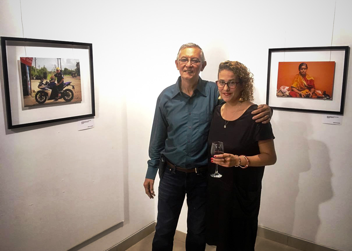 Uncle Yuking & I at the exhibition opening night.