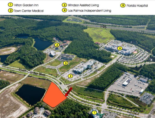 Lot 26 (Phase 1) - Size: 2+/- Net Acres Zoning: PUD (Entitled for 30,000sf Office)Price: $900,000 or $10.33/sq. ftDevelopment opportunity within 5 minutes of I-95! Perfectly situated less than 10 minutes from the golden sands of Flagler Beach and its ever-expanding offering of river and ocean viewrestaurants, this is the last treasure along the Flagler and Volusia Coast. A dozen golf courses are within 15 minutes of Town Center and for the boater, there are numerous marinas and theIntracoastal Waterway just over a mile away. Led by the oceanfront resorts of Hammock Dunes and golf communities such as Grand Haven, Palm Coast enjoyed explosive growth throughoutthe 1990s and early 2000s and now exceeds 100,000 in population.