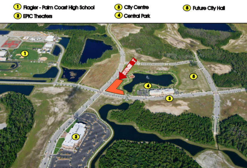 Lot 8 (Phase 2) - Size: 1.1 +/- Acres Zoning: PUD Price: $750,000 or $15/sq. ftDevelopment opportunity within 5 minutes of I-95! Perfectly situated less than 10 minutes from the golden sands of Flagler Beach and its ever-expanding offering of river and ocean viewrestaurants, this is the last treasure along the Flagler and Volusia Coast. A dozen golf courses are within 15 minutes of Town Center and for the boater, there are numerous marinas and theIntracoastal Waterway just over a mile away. Led by the oceanfront resorts of Hammock Dunes and golf communities such as Grand Haven, Palm Coast enjoyed explosive growth throughoutthe 1990s and early 2000s and now exceeds 100,000 in population.