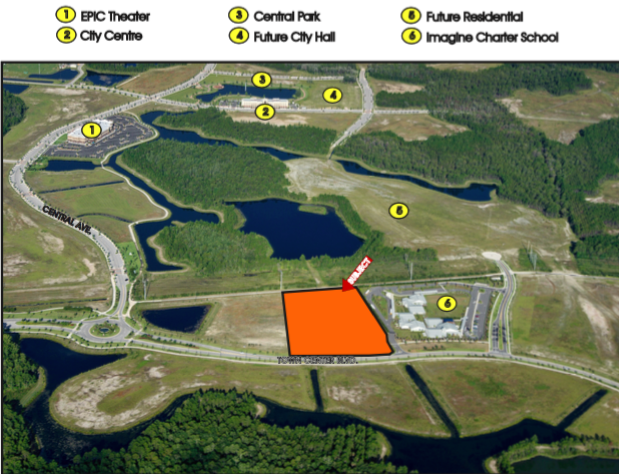 Phase 5 Lot 2 - Size: 4.5+/- Net AcresNon-Retail CommPrice: $900,000Development opportunity within 5 minutes of I-95! Perfectly situated less than 10 minutes from the golden sands of Flagler Beach and its ever-expanding offering of river and ocean viewrestaurants, this is the last treasure along the Flagler and Volusia Coast. A dozen golf courses are within 15 minutes of Town Center and for the boater, there are numerous marinas and theIntracoastal Waterway just over a mile away. Led by the oceanfront resorts of Hammock Dunes and golf communities such as Grand Haven, Palm Coast enjoyed explosive growth throughoutthe 1990s and early 2000s and now exceeds 100,000 in population.