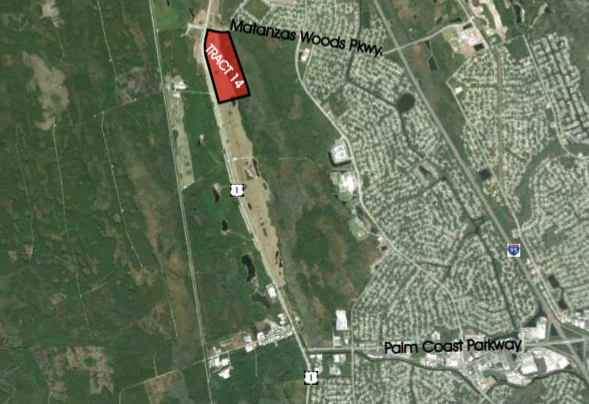 Tract 14(SOLD) - 86+/- Net Acres  COM-3 And OFC-2 (Power Center Site)$7,707,000Development opportunity within 5 minutes of I-95! Perfectly situated less than 10 minutes from the golden sands of Flagler Beach and its ever-expanding offering of river and ocean viewrestaurants, this is the last treasure along the Flagler and Volusia Coast. A dozen golf courses are within 15 minutes of Town Center and for the boater, there are numerous marinas and theIntracoastal Waterway just over a mile away. Led by the oceanfront resorts of Hammock Dunes and golf communities such as Grand Haven, Palm Coast enjoyed explosive growth throughoutthe 1990s and early 2000s and now exceeds 100,000 in population.