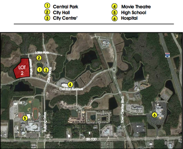 Lot 2 (Phase 2) - 4.6+/- Acres100 Units Residential12,000sf Office12,000sf Retail$1,400,000Development opportunity within 5 minutes of I-95! Perfectly situated less than 10 minutes from the golden sands of Flagler Beach and its ever-expanding offering of river and ocean viewrestaurants, this is the last treasure along the Flagler and Volusia Coast. A dozen golf courses are within 15 minutes of Town Center and for the boater, there are numerous marinas and theIntracoastal Waterway just over a mile away. Led by the oceanfront resorts of Hammock Dunes and golf communities such as Grand Haven, Palm Coast enjoyed explosive growth throughoutthe 1990s and early 2000s and now exceeds 100,000 in population.