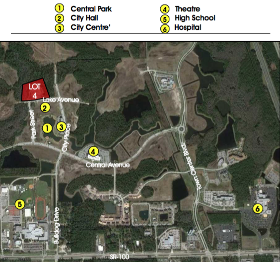 Lot 4 (Phase 2) - 3.6+/- AcresApproved for 72,000sf Office $550,000Development opportunity within 5 minutes of I-95! Perfectly situated less than 10 minutes from the golden sands of Flagler Beach and its ever-expanding offering of river and ocean viewrestaurants, this is the last treasure along the Flagler and Volusia Coast. A dozen golf courses are within 15 minutes of Town Center and for the boater, there are numerous marinas and theIntracoastal Waterway just over a mile away. Led by the oceanfront resorts of Hammock Dunes and golf communities such as Grand Haven, Palm Coast enjoyed explosive growth throughoutthe 1990s and early 2000s and now exceeds 100,000 in population.