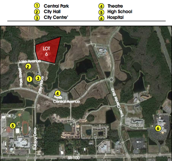 Lot 6 (Phase 2) - 7.7+/- Net Acres150 Units Residential5,000sf Office15,000sf Retail$1,400,000Development opportunity within 5 minutes of I-95! Perfectly situated less than 10 minutes from the golden sands of Flagler Beach and its ever-expanding offering of river and ocean viewrestaurants, this is the last treasure along the Flagler and Volusia Coast. A dozen golf courses are within 15 minutes of Town Center and for the boater, there are numerous marinas and theIntracoastal Waterway just over a mile away. Led by the oceanfront resorts of Hammock Dunes and golf communities such as Grand Haven, Palm Coast enjoyed explosive growth throughoutthe 1990s and early 2000s and now exceeds 100,000 in population.