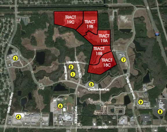 Tracts 19A,B,C - TRACT 19A                                                            19 +/- Net Acres  Approved for 58 Residential Units$870,000TRACT 19B                                                            25.6 +/- Net Acres  Approved for 112 Residential Units$1,680,000                                                                                                                                    TRACT 19C                                                            11.9 +/- Net Acres  Approved for 43 Residential Units$640,000