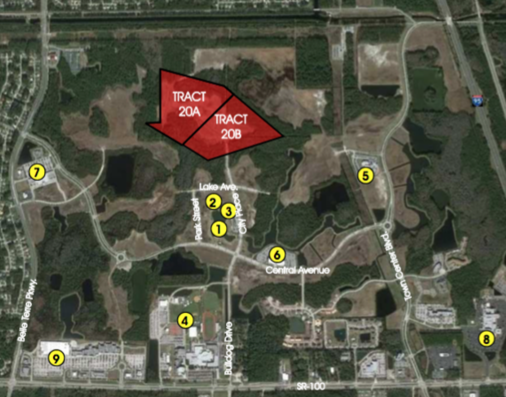 Tracts 20A & 20B - TRACT 20A 18.8 +/- Net Acres Approved for 260 Residential Units$3,120,000TRACT 20B 11.8 +/- Net Acres Approved for 160 Residential units$1,920,000