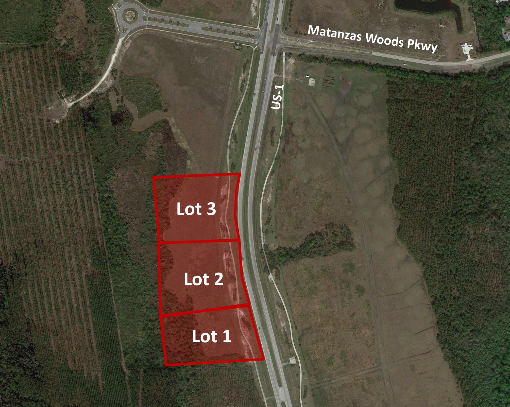 Commercial Lots - Lot 1: 2.4+/- Net Acres Entitled for 12,000sf Commercial$350,000Lot 2: 3.5+/- Net Acres Entitled for 15,000sf Commercial$440,000Lot 3: 3.5+/- Net Acres Entitled for 16,000sf Commercial$450,000