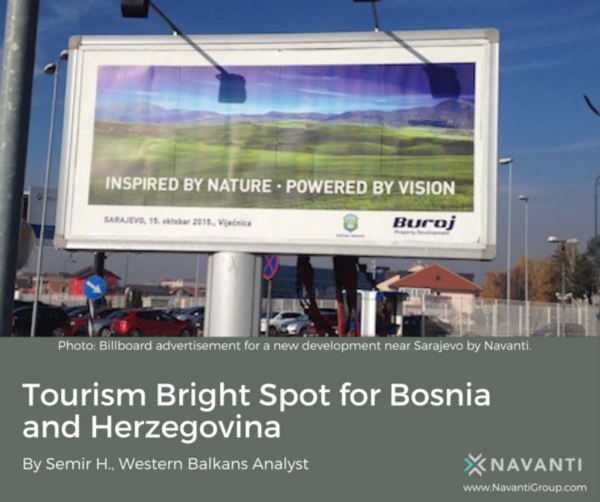 Billboard Advertisement for a New Development Near Sarajevo