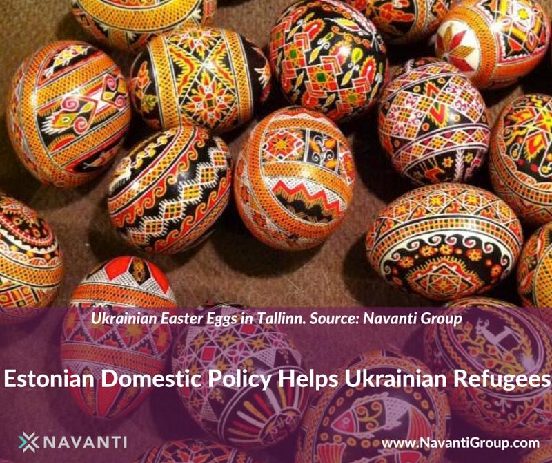 Ukrainian Easter Eggs in Tallinn