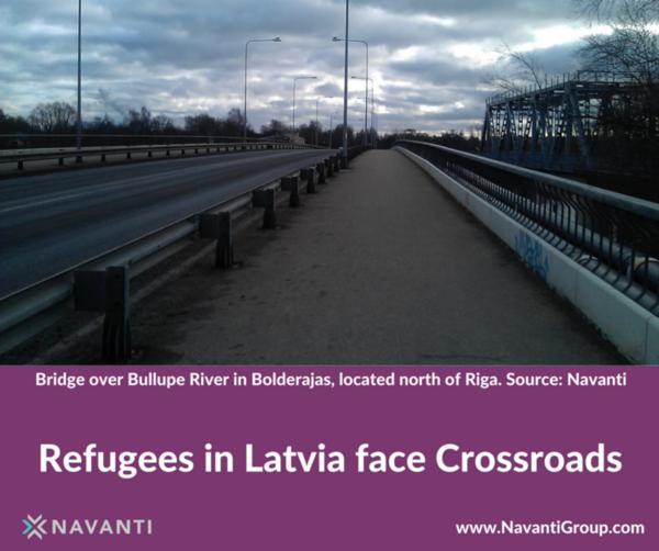 Bridge oVer Bullupe River in Bolderajas, Located North of Riga