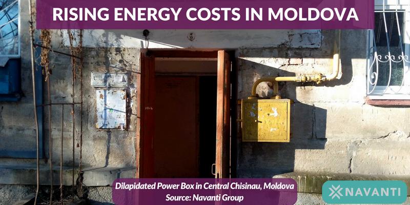 Dilapidated Power Box in Central Chisinau, Moldova
