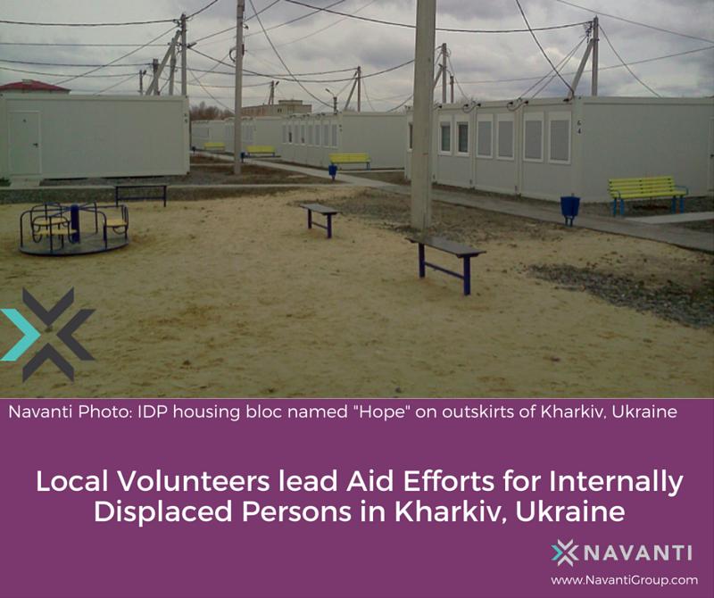 """IDP Housing Bloc Named """"Hope"""" On Outskirts of Kharkiv, Ukraine"""