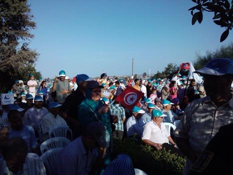 Ennahda Rally on Evacuation Day in Bizerte, 15 OCT 14
