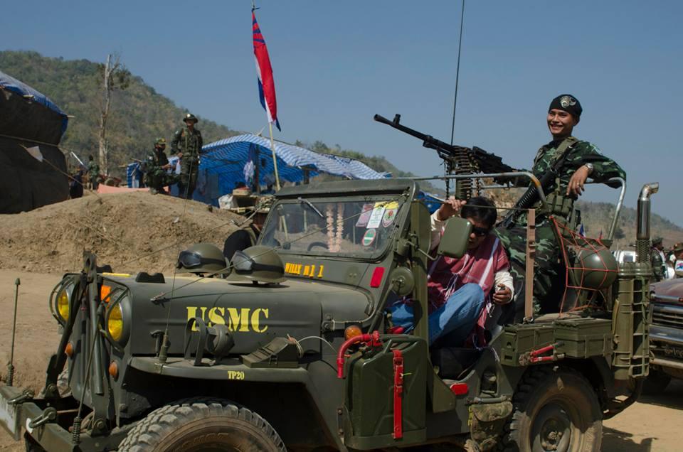 KNLA personnel in a Willys jeep. Source: John Arterbury