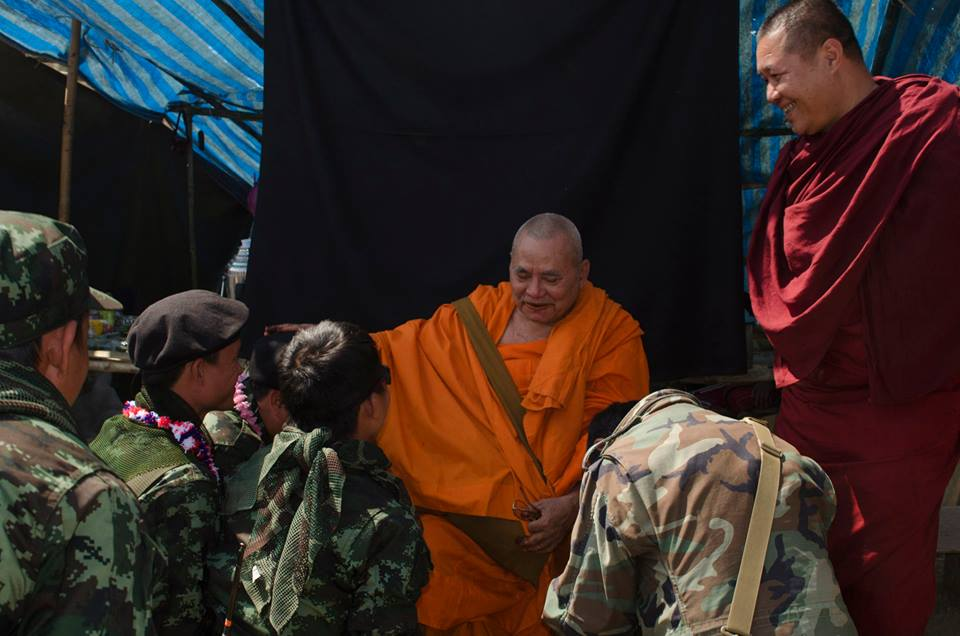 "Buddhist monk Saw Wizana, known as ""Saw Rambo"" for his role in the Karen insurgency. Source: John Arterbury"