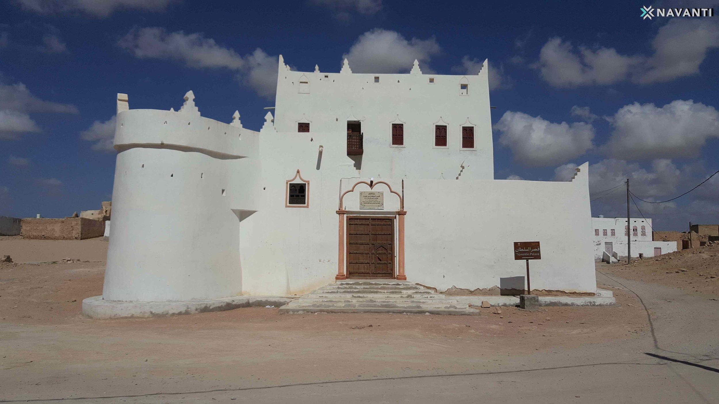 Palace of Sultan Bin Afrar, built in 1277 and renovated in 2019, Qishn, al-Mahra. Source: Navanti