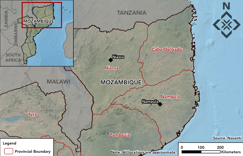 Map of northern Mozambique. Source: Navanti