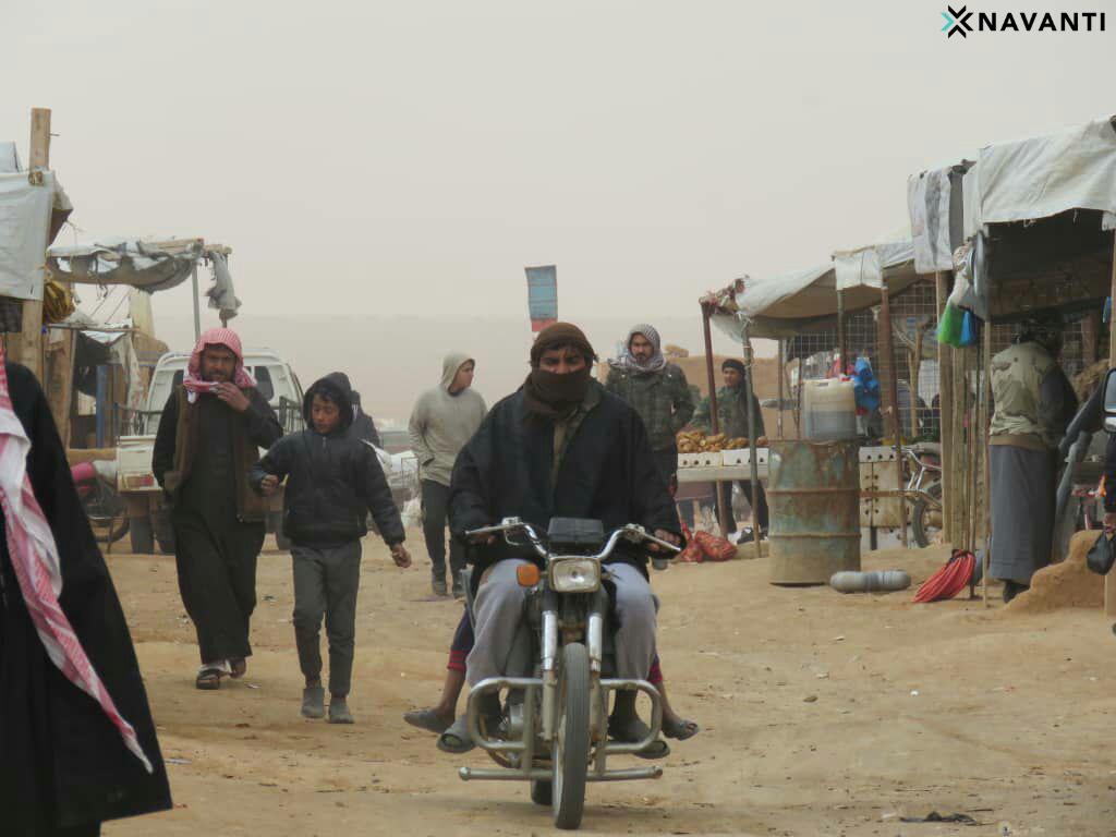 Market in the Rukban camp. Source: Navanti