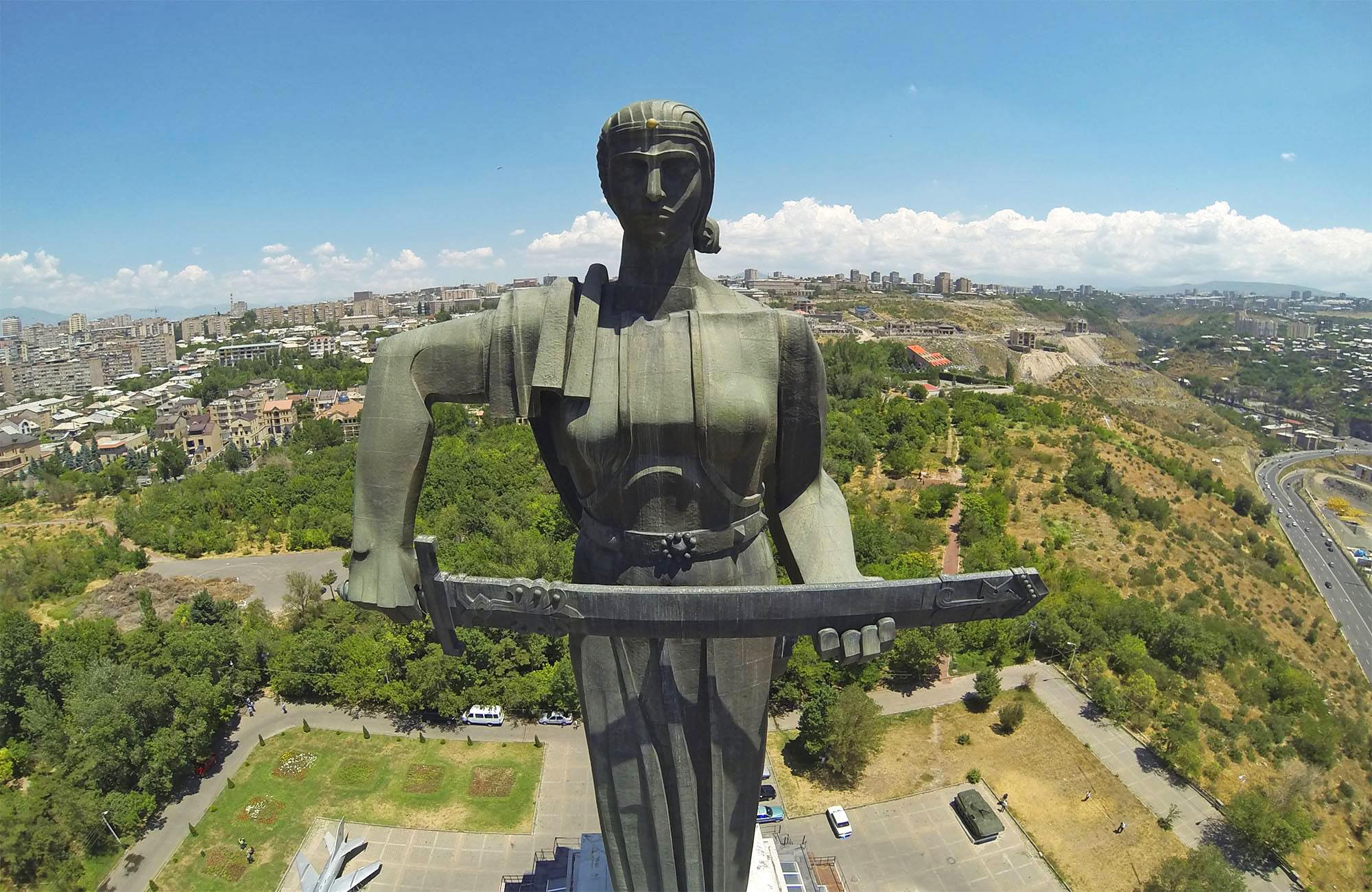 Mother Armenia statue in Yerevan.