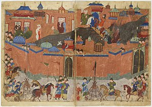 The Mongol Siege of Baghdad in 1258. Source: Wikimedia