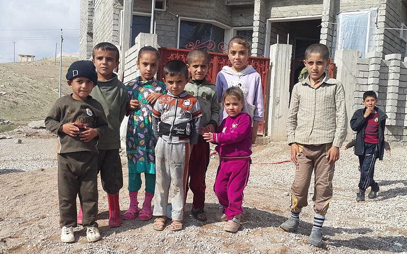 Yazidi children in Iraqi Kurdistan. Source: Defend International