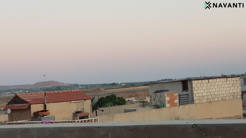 Turkish border as seen from Ras al-Ayn. Source: Navanti