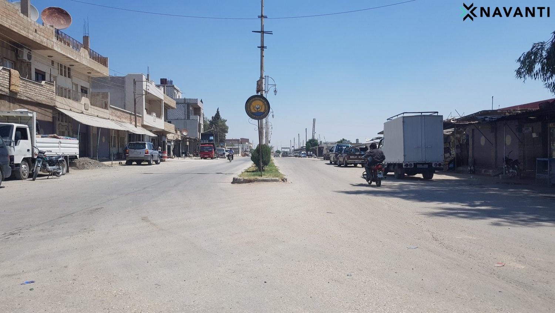 Street scene in Ras al-Ayn. Source: Navanti