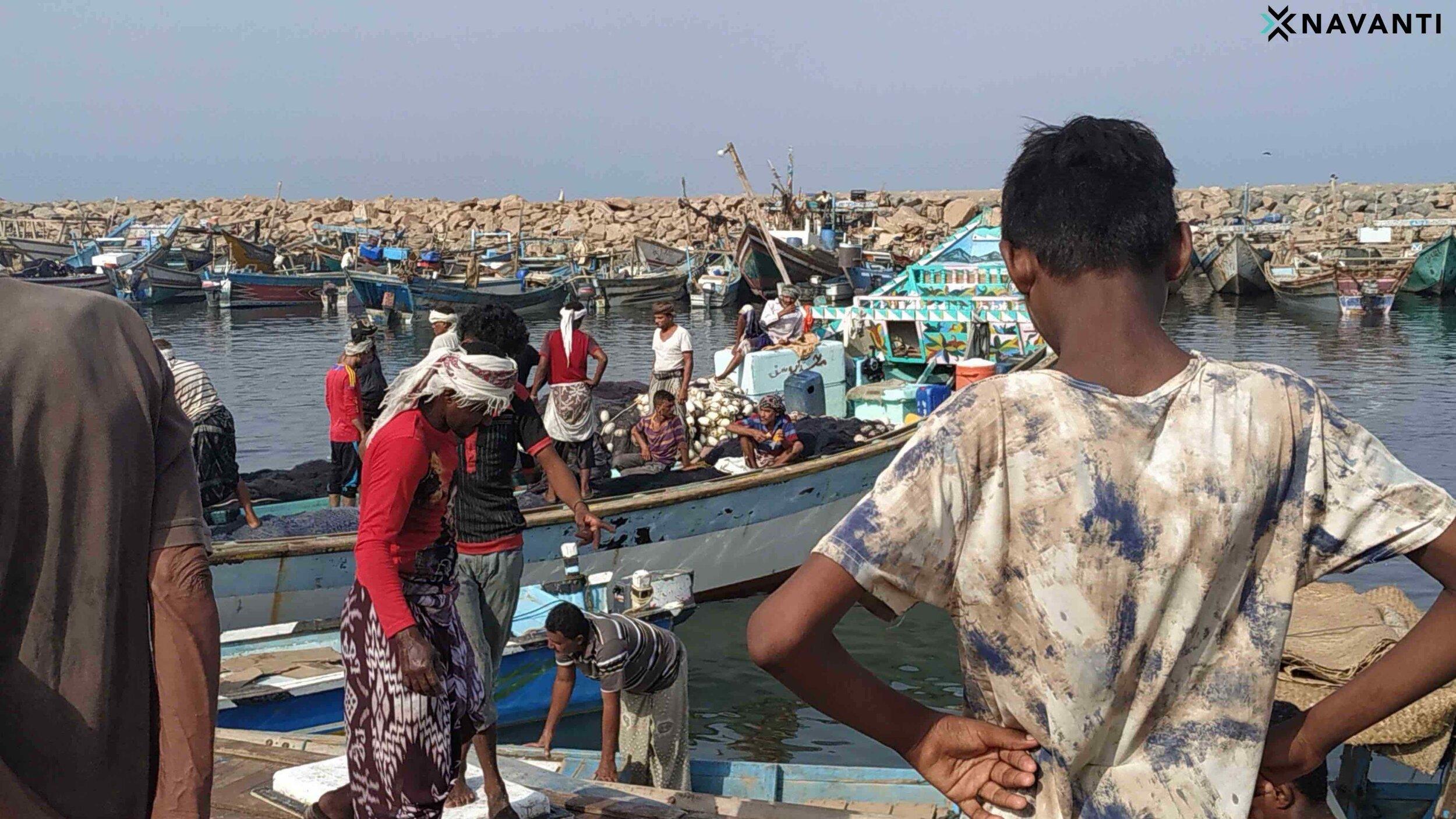 Fishermen in Al-Hudaydah Governorate, Yemen. Source: Navanti