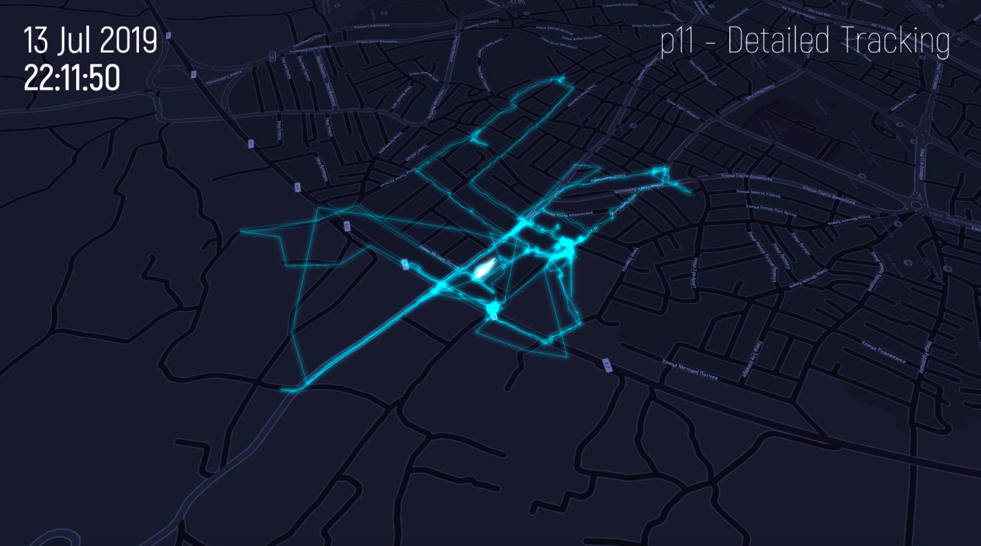 Detailed tracking of a dog in Prilep