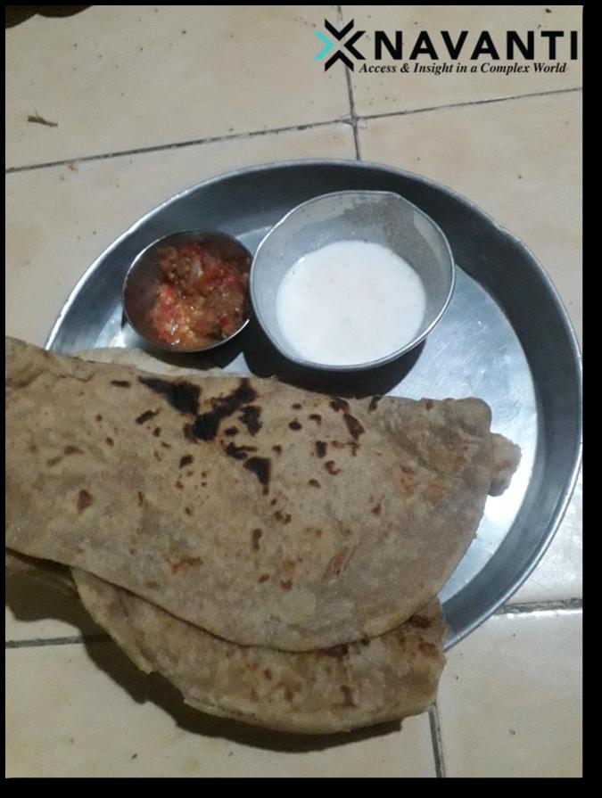 Typical meal of flatbread and sahawek (hot pepper sauce) and yogurt, Source: Navanti