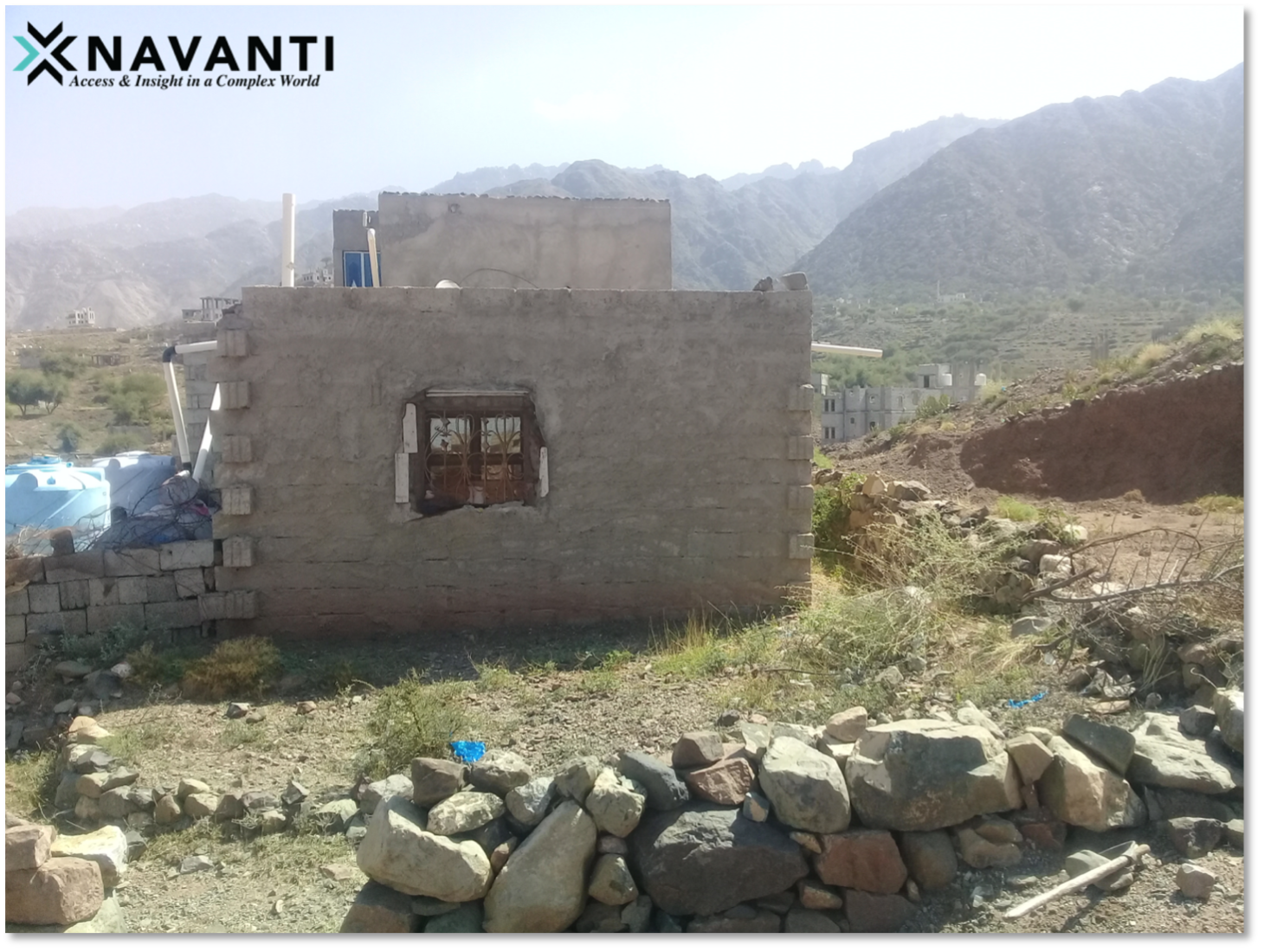 Home of displaced household outside of Ta'izz City, Yemen, Source: Navanti