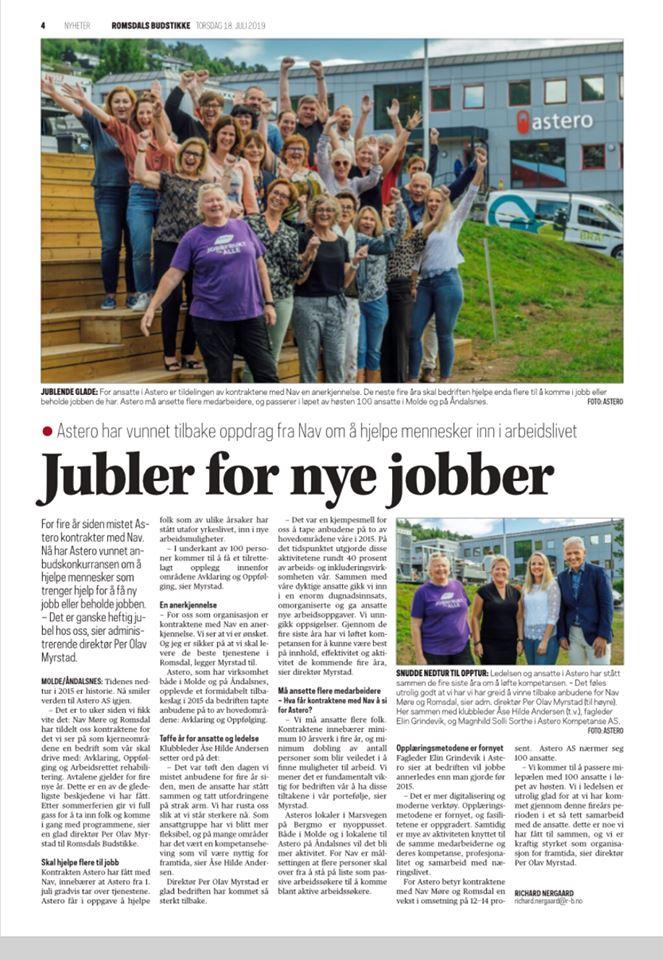 Romsdals Budstikke, 18/7-2019