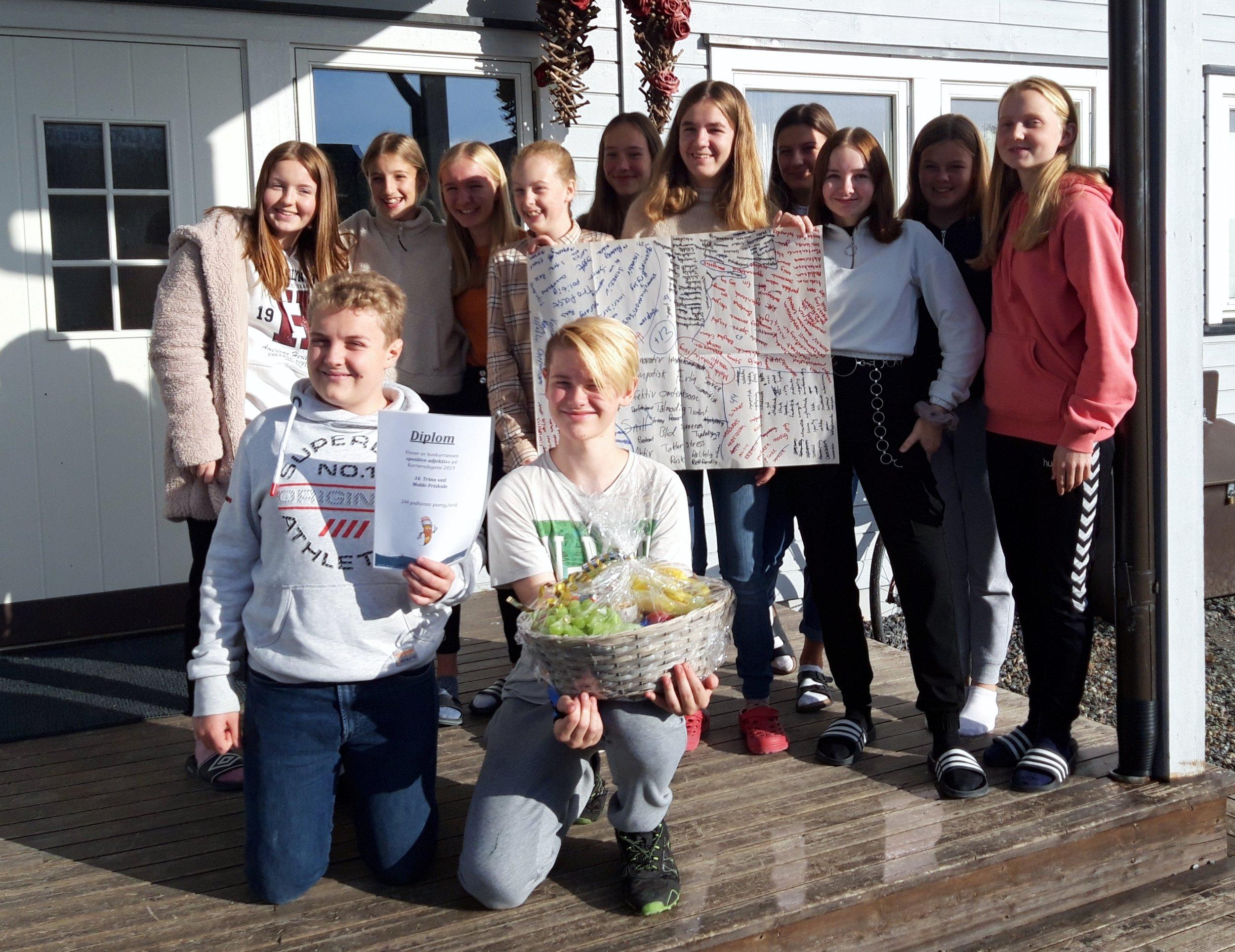 10. trinn ved Molde Friskole - Gruppen fra Molde Friskole ble vinner av konkurransen