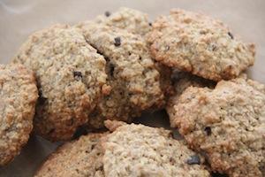 Healthy chocolate chip cookies vegan