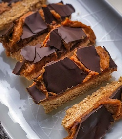 healthy vegan caramel bars
