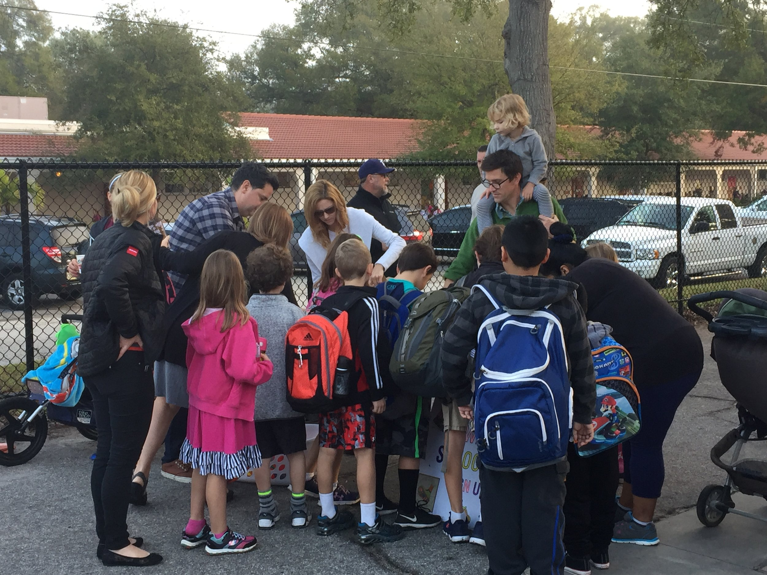 "Palma Ceia Sidewalk Stompers work with the PTA at Roosevelt Elementary School to fund and support ""Walk to School Wednesdays"" - a once-a-week walk to school routine for the community."