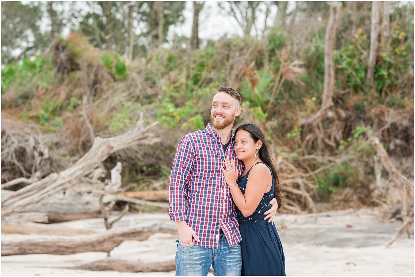 Big Talbot Island_Jacksonville_Florida_Beach_Driftwood_Engagement_Portraits_8.jpg