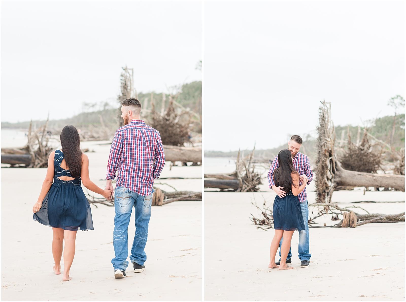 Big Talbot Island_Jacksonville_Florida_Beach_Driftwood_Engagement_Portraits_7.jpg