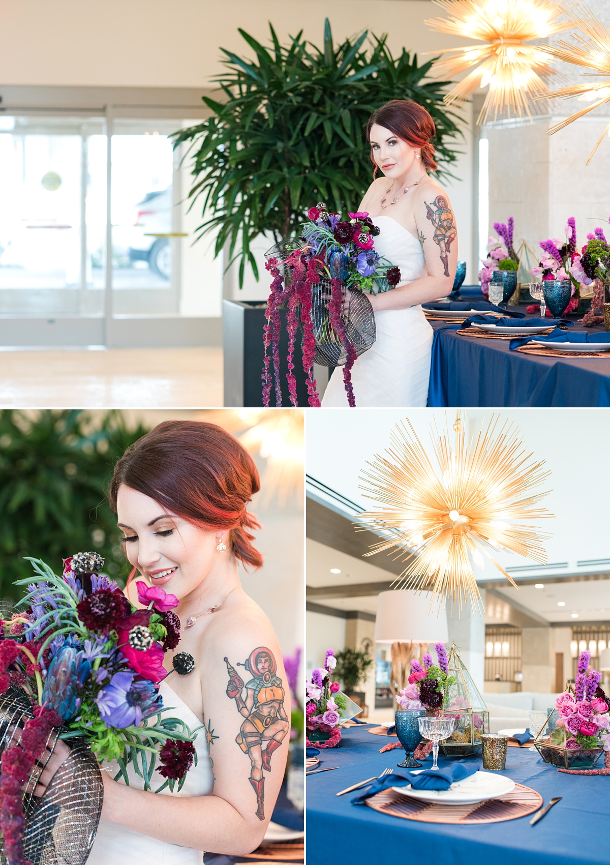 Embassy Suites St Augustine-Styled Wedding Fashion-Wedding Tables-Wedding Decor Inspiration-Short Hairstyle-Bridal Bouquet.jpg