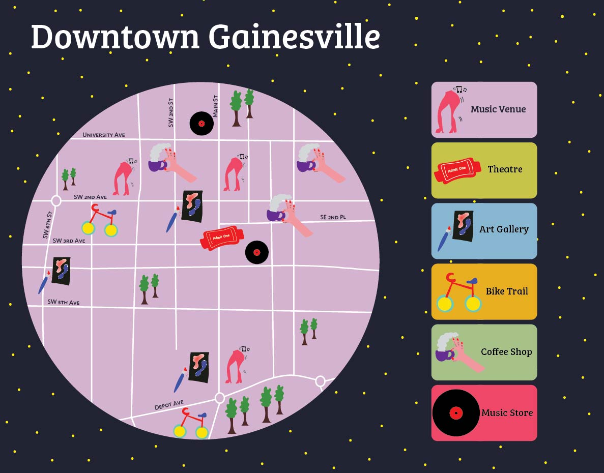 City of Gainesville Recreation Map - Interactive Map Design for Online Prototype